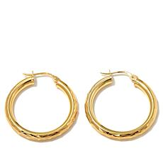Sevilla Silver Diamond-Cut Hoop Earrings