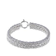 "Sevilla Silver™ Diamond-Cut Wheat Chain 8"" Bracelet"