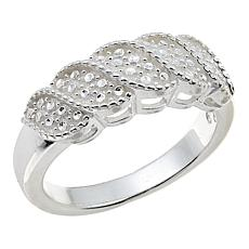"Sevilla Silver™ Diamond Press ""Wave"" Ring"