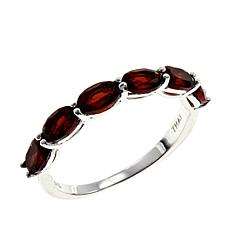 Sevilla Silver™ Garnet 6-Stone Stackable Band Ring
