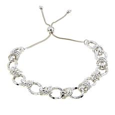 Sevilla Silver™ Hammered Link Adjustable Bracelet