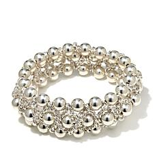 Sevilla Silver™ High-Polished Beaded Stretch Bracelet