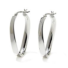 Sevilla Silver™ Torqued Oval Hoop Earrings