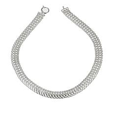 "Sevilla Silver™ Woven ""Tapestry"" Chain 18"" Necklace"