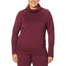 Shadow Sport Cowl-Neck Sweatshirt