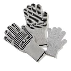 Shark Heat and Cut Resistant Gloves Set