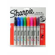 Sharpie Brush Tip Permanent Marker Assorted Set of 8