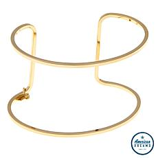 Shelly Brown Logo Dangle Large Cuff Bracelet