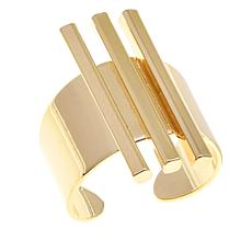 "Shelly Brown ""Nikki"" Three-Bar Adjustable Cuff Ring"