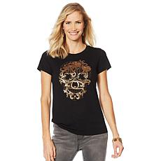 Sheryl Crow Beaded Skull Tee