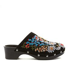Sheryl Crow Embroidered Suede Clog