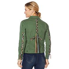 Sheryl Crow Laced Fringe Military Jacket