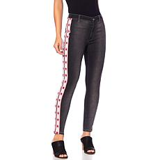 Sheryl Crow Star Print Side-Stripe Skinny Jean
