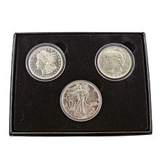 Silver Dollars of the 20th Century - Set of 3