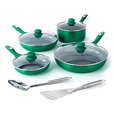 Simply Ming 10-piece Healthy Cookware Soft-Grip Design Lightweight Set