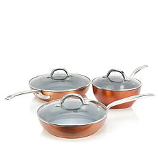 Simply Ming 6-piece Hammered Cookware Set