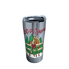 Simply Southern Christmas Horse 20 oz Stainless Steel Tumbler with lid
