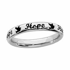 Simply Stacks™ Sterling Silver Hope Band Ring