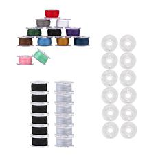 Singer Class I5J Black and White Bobbin Bundle with Assorted Thread