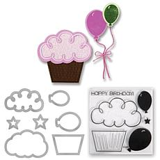 Sizzix Framelits Stamp and Die-Cut Set - Balloons