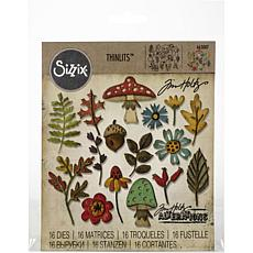 Sizzix Thinlits Dies By Tim Holtz 16-pack - Funky Foliage