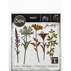 Sizzix Thinlits Dies By Tim Holtz 5-pack - Wildflower Stems #2