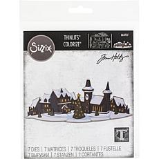 Sizzix Thinlits Dies By Tim Holtz 6-pack - Holiday Village Colorize