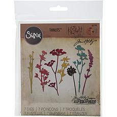 Sizzix Thinlits Dies By Tim Holtz 7-pack - Wildflowers
