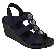 Skechers Rumble-On Camp Glam Wedge Sandal