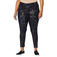 Skinnygirl Bailey Metallic Print Pull-On Legging