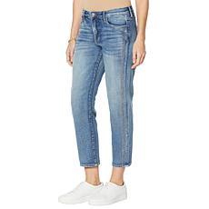 Skinnygirl Celeste Crystal Stripe Straight Jean