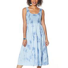 Skinnygirl Crochet Tiered Midi Dress