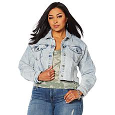 49dcfb25ebf Skinnygirl Cropped Denim Jacket