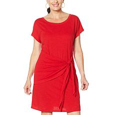 Skinnygirl Deborah Draped Side Tie T-Shirt Dress