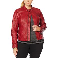 Skinnygirl Faux Leather Moto Jacket