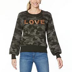 Skinnygirl Shine Crew Neck Sweater