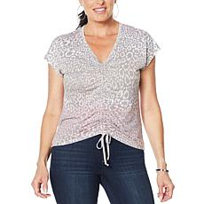 Skinnygirl Smallz Ruched Front Short-Sleeve Top
