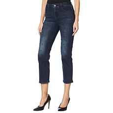 Skinnygirl Warren Crystal High-Rise Straight Jean