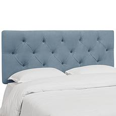 Skyline Furniture Diamond Tufted Velvet Headboard- Twin