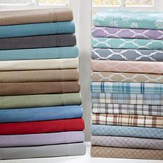 Sleep Philosophy Micro Fleece Sheet Set - Purple Ogee -  Full