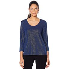 Slinky® Brand 2-pack 3/4-Sleeve Shimmer and Solid Tees