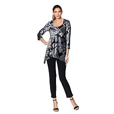 Slinky® Brand 2-piece Printed Velvet Tunic and Pant Set