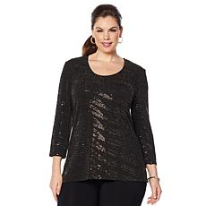 Slinky® Brand 2pc Embellished Tunic and and Solid Pant