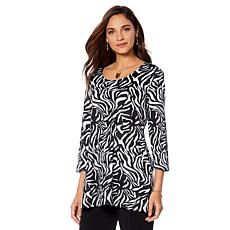 Slinky® Brand 2pk 3/4-Sleeve Print and Solid Long Tunics