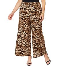 Slinky® Brand 2pk Knit Palazzo Pant in Print and Solid