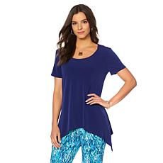 Slinky® Brand 2pk Short-Sleeve Knit Sharkbite Tunic