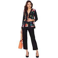 a892f6f44f6d0 Slinky® Brand 3-piece Printed Jacket and Tank with Solid Pant ...