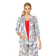 Slinky® Brand 3/4-Sleeve Printed Jacket with Pockets