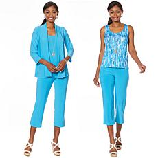 Slinky® Brand 4pc Set - Jacket, 2 Tanks and Crop Pant