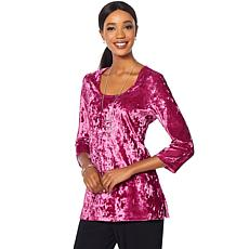 Slinky Brand Crushed Velvet Long Tunic
